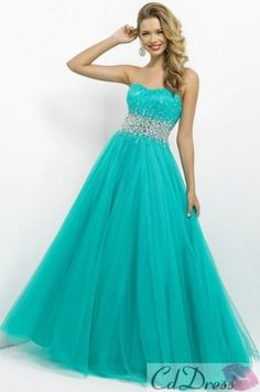 Empire waist prom dress