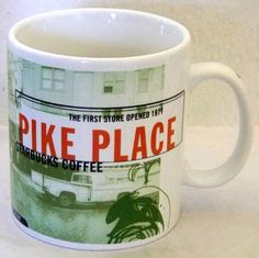 Starbucks Coffee 1999 Pike Place Collage Series City Mug Tea Cup 20 oz Seattle #Starbucks