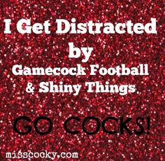 I get distracted by Gamecock Football & shiny things!
