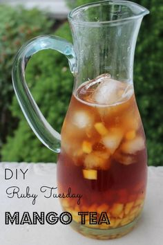 Ruby Tuesday DIY Mango Iced Tea - Copycat, Iced, Mango, Ruby Tuesday, Tea