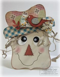 Top Note Scarecrow - how cute is this!!!
