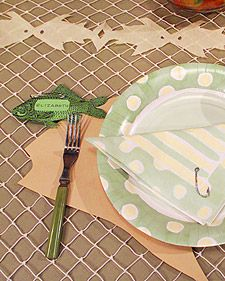 fishing theme decorations table decorations, parti decor, fish parti, 5th birthday, table covers, party tables, fishing party, graduation parties, themed parties