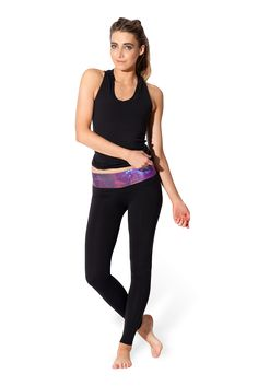 Galaxy Purple Yoga Pants (LIMITED) by Black Milk Clothing