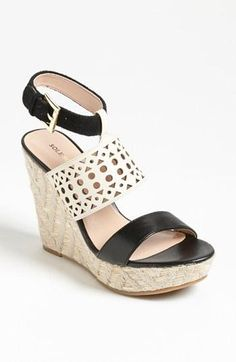 Yes! B Perforated Wedge Sandal