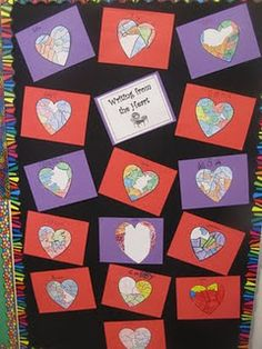 Writing from the heart, Valentine's bulletin board