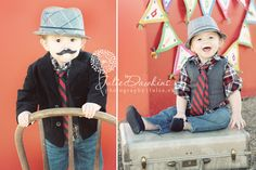Too Cute!  Bridger's 1st Birthday Picture Ideas - Julie Dawkins Photography