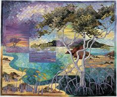 multiple images in the landscape quilt class