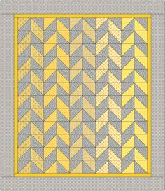 Modern Herringbone Quilt & Pillow Pattern | The Cloth Parcel