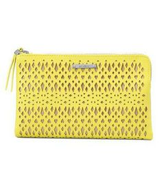 Stella & Dot Double Clutch Citrine Perf: An elegant nod to activewear.