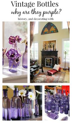 History of #Vintage #purple bottles and decorating with.