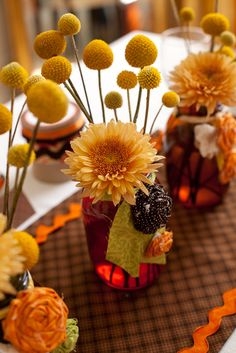 Thanksgiving Party Table Decor #thanksgiving #table