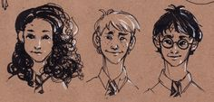The Golden Trio by coffeenymph on deviantART