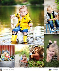 Children's Photography. love the chair in water.