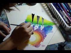 Watercolor pencils tutorial.