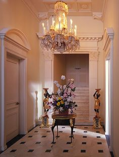 Chateau Margaux front entry hall