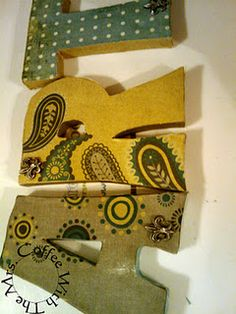 Mod Podge Letters How-To