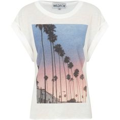 Wildfox Canyon Roses Printed T-Shirt ($200) ❤ liked on Polyvore