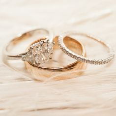 Love the simple 3 stone ring