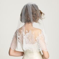 Jennifer Behr Chantilly Lace Wedding Veil #jennifer #behr #chantilly #lace #wedding #veil #jcrew