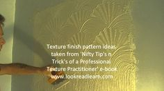 Video DVD Tutorial: Stipple Fan Comb Mix-up Wall Ceiling Oystershell Artex Texture Pattern: ...