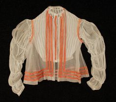 Unusual construction of 1860s blouse and vest.