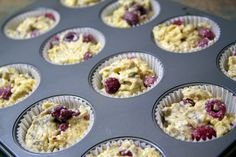 Lemon Raspberry Muffins~ low sugar, high protein.