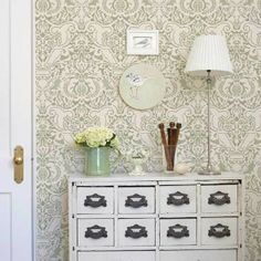 Love this look- Wall Stencil | Fortuny Damask Stencil | Royal Design Studio