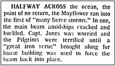 "A newspaper article about the Mayflower's hazardous crossing of the Atlantic in 1620, published in the Boston Herald newspaper (Boston, Massachusetts), 25 November 1970. Read more on the GenealogyBank blog: ""Scary Mayflower Fact: Storm Cracked Ship's Main Beam."" http://bit.ly/1B9yIfx"