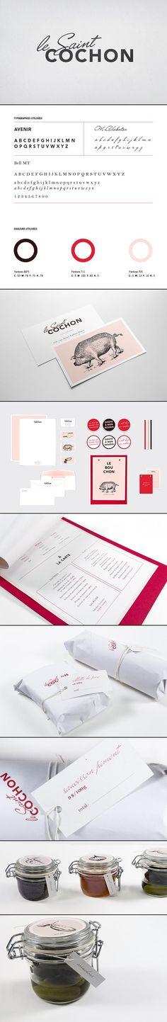 Le Saint Cochon ©Marie-Lise Leclerc #identity #packaging #branding #marketing PD