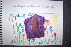 Hiding places for the gingerbread man - classroom book . . .