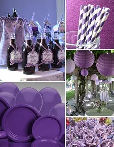 Purple + Zebra Baby Shower on Pinterest