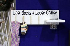Laundry Room Decor Lost Socks and Loose Change by WallHanger