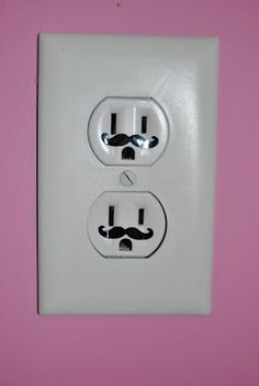 Mustache outlet decal... so cute!