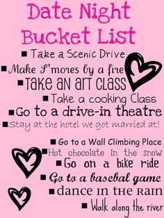 Free Printable Bucket List and Date Night Ideas - #datenight #summer ALL #parents love their #kids. But sometimes we need a date night or moms' night out! When was the last time you got a #babysitter?? https://www.facebook.com/AustinsCapitalGrannies #austin-babysitter.com