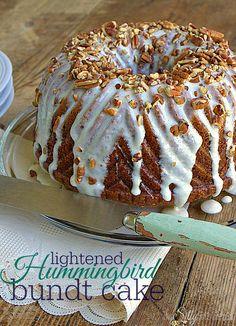 Lightened Hummingbird Bundt Cake