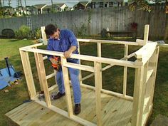 how to build a deluxe playhouse (step by step).  We just need to attach the slide