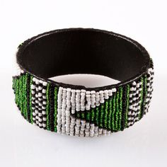 Nigeria Beaded Bangle now featured on Fab.