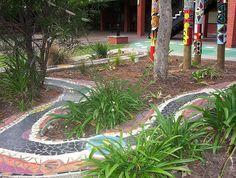 Inspiration: Mosaic garden river by Mundoo, via Flickr