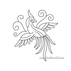 Little Bird of Paradise - Embroidery Pattern, or other crafts. Could also be your Bluebird of Happiness! Stop by Needle 'n Thread for the free PDF, if you wish!