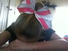 Super cute and ADORIBLE cheer bow DIY!!!