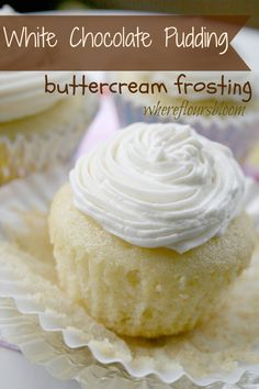 White Chocolate Pudding Buttercream Frosting