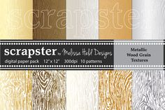 Wood Grain Textures: Metallic by scrapster on Creative Market
