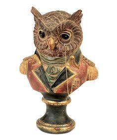 Regal Owl Bust Statue