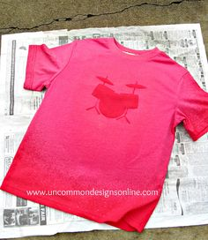 DIY Bleach Drum Set T-Shirt Tutorial... | Uncommon