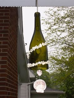 Nautical Inspired Wine Bottle Wind Chime