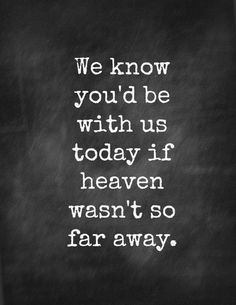 We know you'd be with us today if heaven wasn't so far away. - Traditional / Anonymous 20 Funeral Quotes for A Loved One's Eulogy | Urns | Online