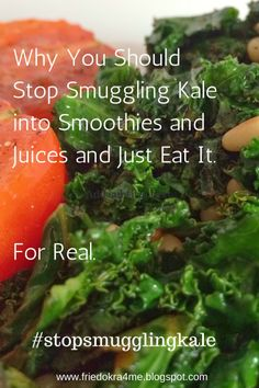 Sauteed Kale via Fried Okra
