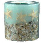 Round sea-green starfish and seashell candle 2014 celebr, 10 year, celebr decor, seashel candl, anniversari parti, parti idea, year anniversari