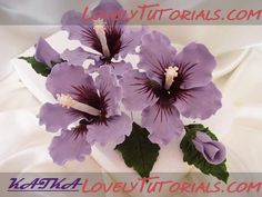 Hibiscus Tutorial gumpaste flower tutorial
