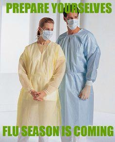 Prepare yourselves, flu season is coming.